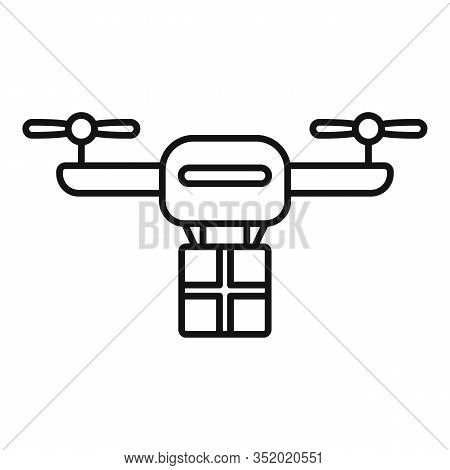 Quick Drone Delivery Icon. Outline Quick Drone Delivery Vector Icon For Web Design Isolated On White