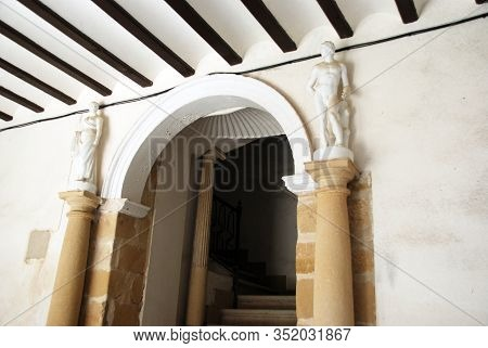 Entrance And Stairway In The Medinilla Palace (palacio De Medinilla), Ubeda, Jaen Province, Andaluci