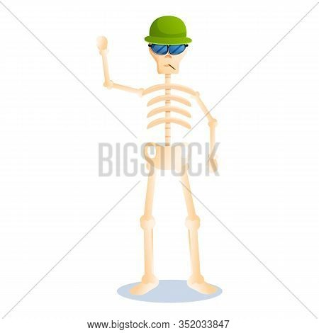 Rocky Skeleton Icon. Cartoon Of Rocky Skeleton Vector Icon For Web Design Isolated On White Backgrou