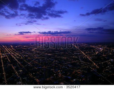 Chicago City Sunset