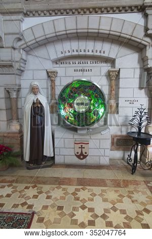 Bethlehem, Palestinian Authority, January 28, 2020: Carmelite Convent On The Hill Of David. In The M