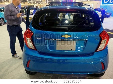 Philadelphia, Pennsylvania, U.s.a - February 9, 2020 - The Rear View Of The Blue Color Of 2020 Chevy