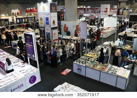 09/02/2020 Yesilkoy, Istanbul : Book Fair In Cnr Expo In Istanbul,turkey