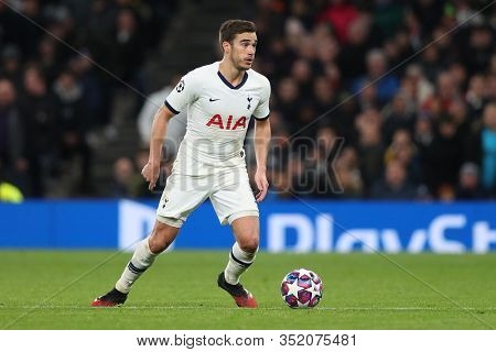 LONDON, ENGLAND. 19 FEBRUARY 2020. Harry Winks of Tottenham during the UEFA Champions League match between Tottenham Hotspur and RB Leipzig, at The Tottenham Hotspur Stadium, London England.