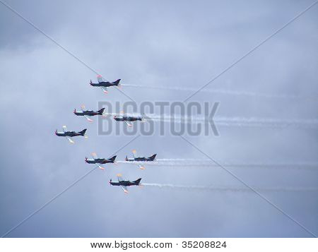 Poland Aerobatic Display Team flying in formation