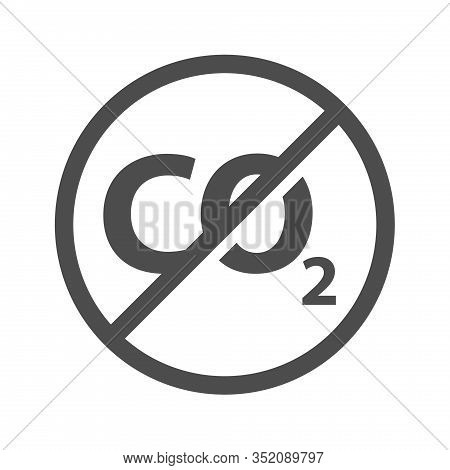 No Exhaust Pollution Icon Isolated On White Background. No Exhaust Pollution Flat Icon For Web, Mobi