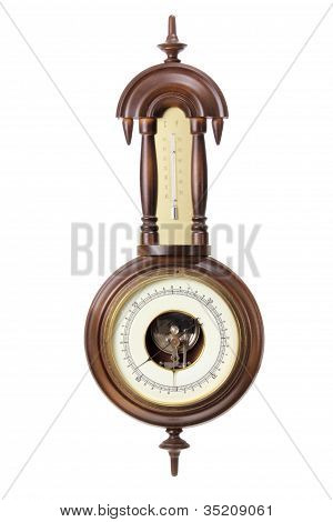 Antique Thermometer And Hygrometer