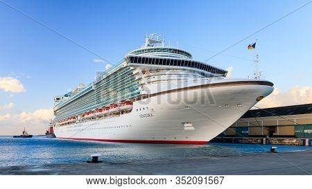 Bridgetown, Barbados - November 8:  P & O Cruise Ship Ventura Docked In Bridgetown On November 8, 20