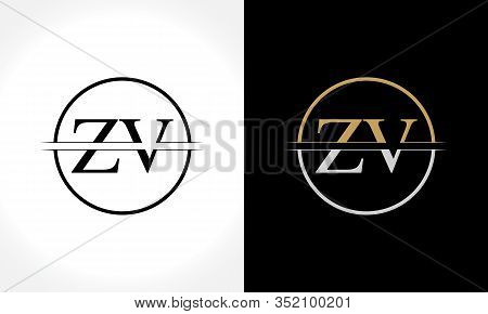 Initial ZV Logo Design Vector Template. Creative Letter ZV Business Logo Vector Illustration