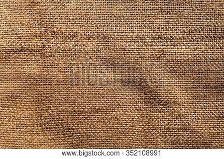 Brown Burlap Jute Canvas Texture Background. Burlap Canvas