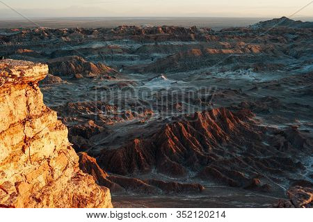 Amphitheater In The Atacama Desert Close To San Pedro De Atacama Chile At Valle De La Luna
