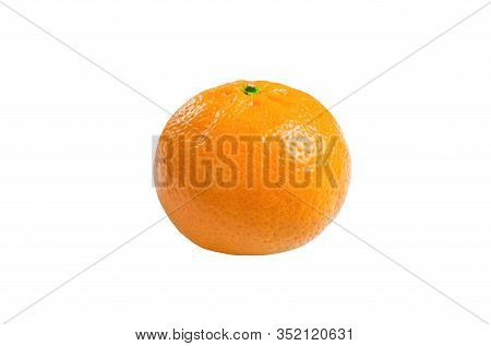 Tangerine Isolate, Tangerines On A White Background