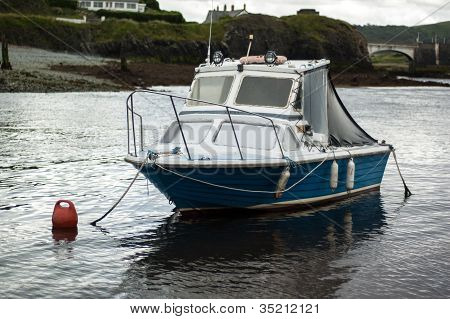 Small Moored Fishing Boat