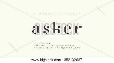 Elegant Alphabet Letters Font And Number. Classic Lettering Minimal Fashion Designs. Typography Font
