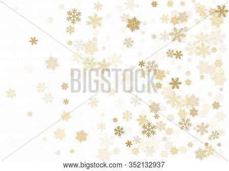 Snow Flakes Falling Macro Vector Illustration, Christmas Snowflakes Confetti Falling Scatter Banner.