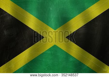 Travel And Study In Jamaica Concept With Jamaica Flag Background