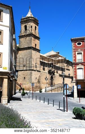 Ubeda, Spain - July 28, 2008 - View Of The Holy Trinity Church And Convent, Ubeda, Spain - July 28,