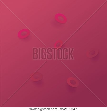 Red Blood Cells Microscope View Abstract Background. Possible Concept Of Medcine, Illness, Diagnosti