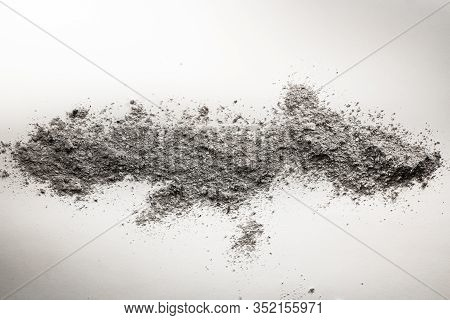 Pile Of Dissipated Ash, Dust, Dirt, Filth As Cleaning, Dusting, Sweep, Cremation, Mineral, Geology,