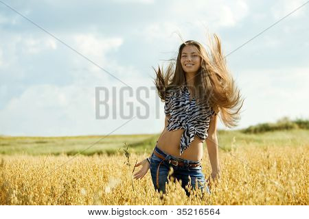 Young Girl In The Field