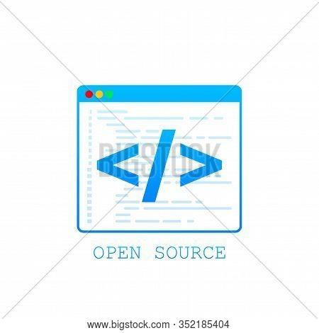 Open Source Icon. Open Source Symbol Design From. Vector Stock Illustration.