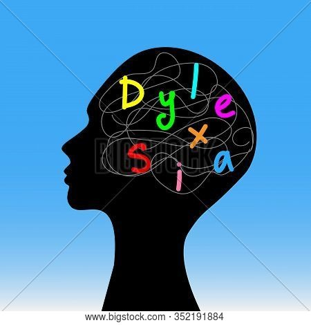 Mind Of A Dyslexic Person Is Confused About Letters. Concept Of World Dyslexia Awareness Day