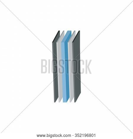 Five Layer Structure Illustration In 3d Perspective. Glass Wood Or Textile Layers. Can Be Used For M