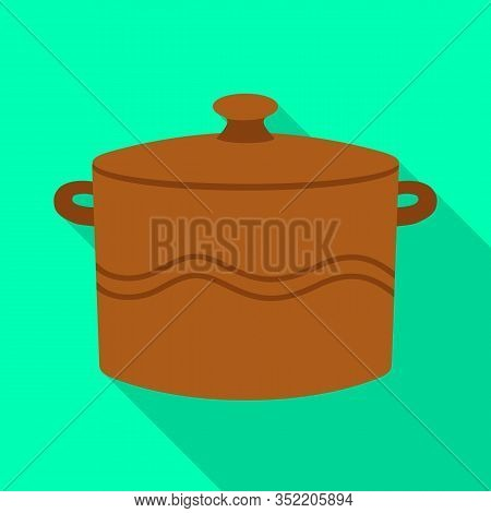 Vector Design Of Crockery And Clean Logo. Web Element Of Crockery And Ceramic Vector Icon For Stock.