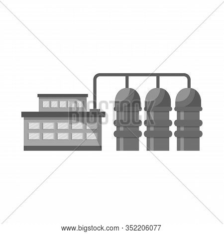 Vector Illustration Of Manufactory And Powerhouse Logo. Collection Of Manufactory And Urban Vector I