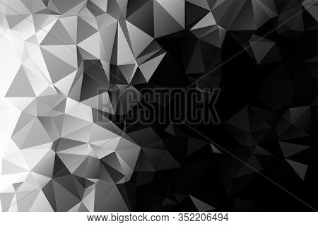 Black And White Polygonal Mosaic Background Illustration