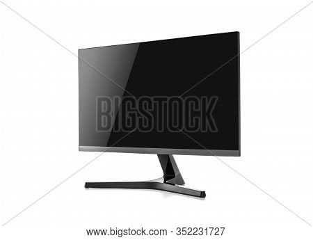 Computer Monitor Or Lcd Tv Isolated On A White Background.