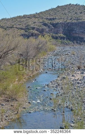 Burro Creek At Burro Creek Campground In Mohave County, Sonoran Desert, Arizona Usa