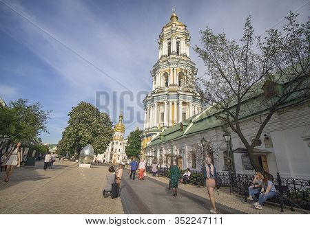 Kiev. Ukraine - May 18, 2019: Kiev Pechersk Lavra. Cathedral Of The Dormition