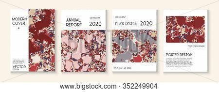 Geographic Map Fluid Paint Vector Cover. Grunge Book Page, Corporate Identity Template. Simple Earth