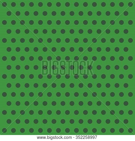 St. Patricks Day Pattern Polka Dots. Template Background In Green And Black Polka Dots . Seamless Fa