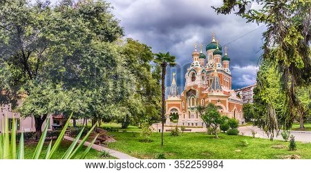 The Iconic St Nicholas Orthodox Cathedral, Nice, Cote D'azur, France