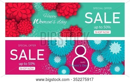 Set sale banners womens day. March 8 flower card. International Women's day. Happy International Women's Day. Woman. Womens Day. Womens Day background. Womens Day poster. Women's Day illustration. Womans Day banners. Women's Month Vectors. Woman Day Vecto