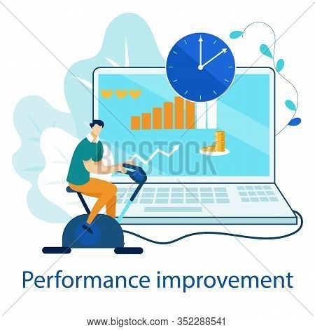 Flat Flyer Performance Improvement Lettering. Banner Standard Strategy For Improving Company Perform
