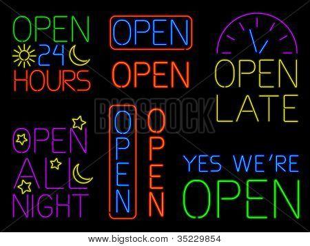 Neon Open Signs