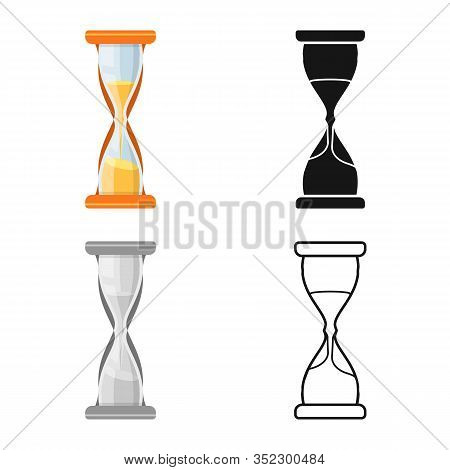 Isolated Object Of Sandglass And Clock Sign. Web Element Of Sandglass And Countdown Stock Vector Ill