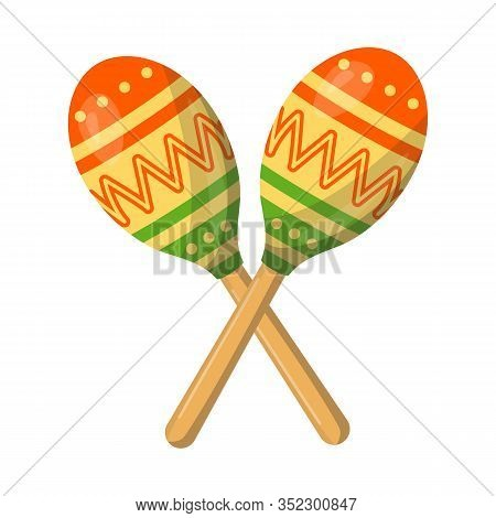 Vector Illustration Of Maraca And Instrument Sign. Graphic Of Maraca And Maracas Stock Symbol For We