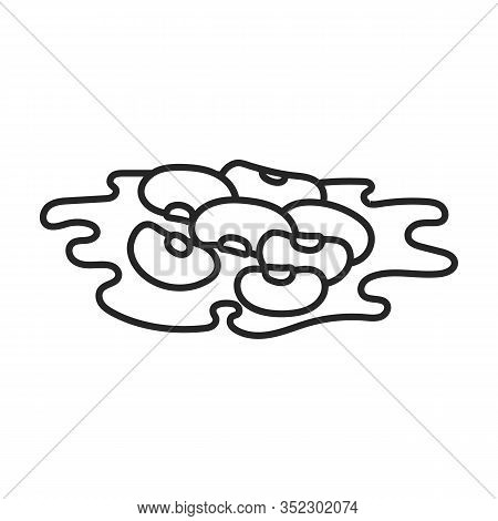 Heap Of Bean Vector Icon.outline Vector Icon Isolated On White Background Heap Of Bean .