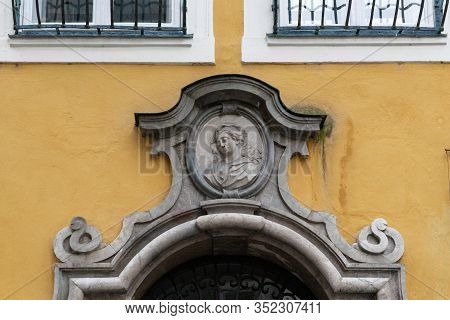 Salzburg, Austria - May 19, 2019: This Is A Baroque-style Architectural Fragment That Adorns One Of