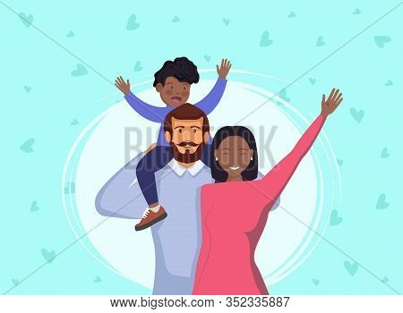 International family. African american woman and black boy. Happy international family day vector illustration design template. Happy International Father's Day. Dad. Father's Day. Father's Day background. Fathers Day poster. Fathers Day illustration. Fat