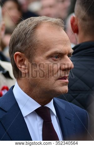 Warsaw, Poland.11 November 2018. Donald Tusk  The President Of The European Council Present In Warsa