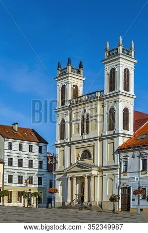St. Francis Xavier Cathedral Is A Cathedral At Slovak National Uprising Square In Banska Bystrica, S