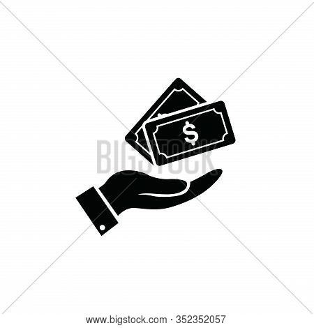 Money In Hand Icon Isolated On White Background. Money In Hand Icon In Trendy Design Style. Money In