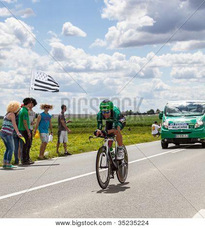 The Italian Cyclist Malacarne Davide