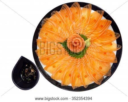 Salmon Sashimi, Japanese Food
