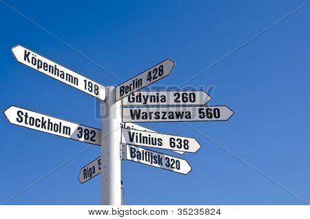 White Signpost